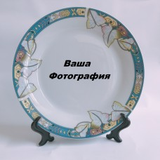 Фото на тарелку с узором из листиков