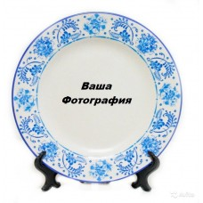 Фото на тарелку с гжель узором