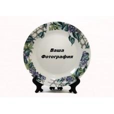 Фото на тарелку с цветочным узором