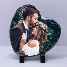 Фото на камень в форме Сердца